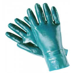 Memphis Glove - 9781S - Memphis Small Predalite Light Weight Blue Nitrile Dipped Fully Coated Work Gloves With Interlock White Cotton Liner And Knit Wrist