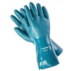 "Memphis Glove - 9792L - 12"" Large Predaflex Nitrile Coated Gauntlet Cu"