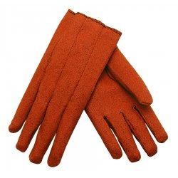 Memphis Glove - 9800L - Memphis Large Russet Impregnated Vinyl Palm And Full Back Coated Work Gloves With Cotton Liner And Slip-On Cuff