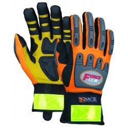 Memphis Glove - HV100L - Forceflex Hi-vis Multitask W/kevlar- Size L