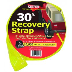 "Keeper - 02923 - Dwos 2"" X 30' Vehicle Recovery Strap 10000 Mvw"