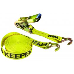 Keeper - 04622 - Heavy Duty 2-Inch x 27-Foot Double J Hook 10, 000-Pound Rated Ratcheting Tie Down