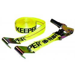 Keeper - 04623 - 2-Inch x 27-Feet 10, 000-Pound Rated Capacity Ratchet Tie Down with Double Flat Hook