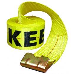 "Keeper - 04926 - 4""x30' Winch Strap 15000lbs Capacity W/flat Hoo, Ea"