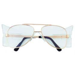 Crews - 61110 - Engineer Gold Frame Clear Lens Safety Glass