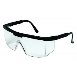 Crews - 99910 - Crews Excalibur Safety Glasses With Black Nylon Frame And Clear Polycarbonate Anti-Scratch Lens