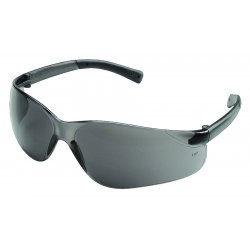 Crews - BK112AF - Crews BearKat Safety Glasses With Gray Polycarbonate Frame, Gray Polycarbonate Duramass Anti-Fog Anti-Scratch Lens And Black Temple Sleeve