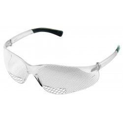 Crews - 135-BKH20 - Clear Scratch-Resistant Bifocal Safety Reading Glasses, +2.0 Diopter