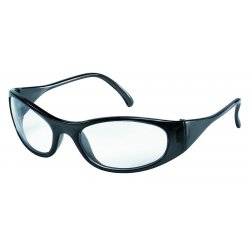 Crews - F2110 - Crews Frostbite2 Safety Glasses With Frost Black Thermoplastic Rubber Frame And Clear Polycarbonate Duramass Anti-Scratch Lens