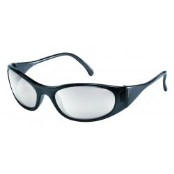 Crews - F2119 - Crews Frostbite2 Safety Glasses With Frost Black Nylon Frame And Clear Indoor/Outdoor Mirror Polycarbonate Duramass Anti-Scratch Lens