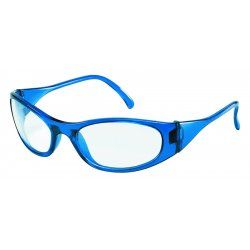 Crews - F2120 - Dwos Frostbite2 Blue Frame Clear Lens Safety Gla