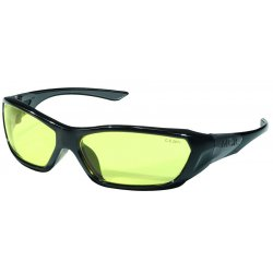 Crews - FF124 - Force Flex Opaque Blk Frm- Amber Lens