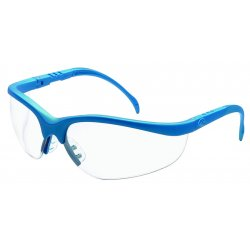 Crews - KD120 - Klondike Blue Frame Clear Lens Safety Glasses
