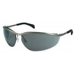 Crews - KD213 - Crews Klondike Safety Glasses With Metal Frame, Light Blue Polycarbonate Anti-Scratch Lens And Black Temple Sleeve