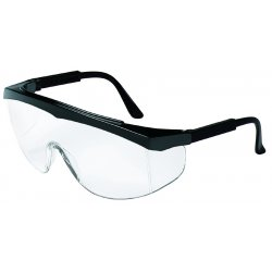 Crews - SS110 - Crews Stratos Safety Glasses With Black Nylon Frame And Clear Polycarbonate Duramass Anti-Scratch Lens