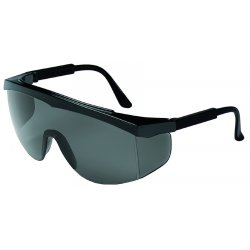 Crews - SS112 - Crews Stratos Safety Glasses With Black Nylon Frame And Gray Polycarbonate Duramass Anti-Scratch Lens