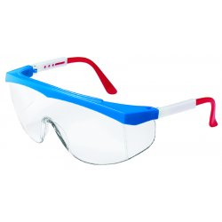 Crews - SS130 - Stratos Red/wht/blue Frame Clear Lens