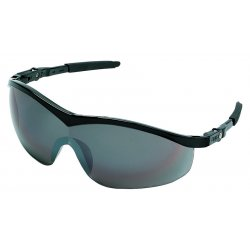 Crews - ST117 - Storm Black Frame Silvermir Lens Safety Glass