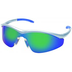 Crews - T1148B - Triwear Blue Diamond Frame Safety Glasses Silver