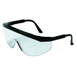 Crews - TK110AF - Crews Tomahawk Safety Glasses With Black Nylon Frame, Clear Polycarbonate Anti-Fog Anti-Scratch Lens And Black Temple Sleeve