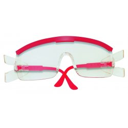 Crews - ZX930 - Crews ZX Plus Safety Glasses With Red Nylon Frame And Clear Polycarbonate Anti-Scratch Lens