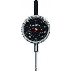 "Brown & Sharpe Precision - 14.82023 - Continuous Reading Dial Indicator, AGD 2, 2.250"" Dial Size, 0 to 1"" Range"