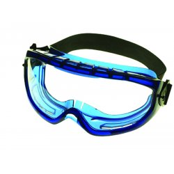 Jackson Safety - 3010335 - Monogoggle Blue Frame Anti Fog Smoke Lens, Pr
