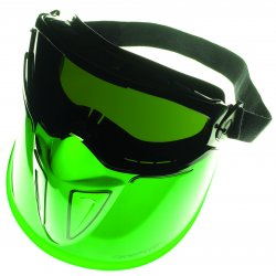 Jackson Safety - 3010346 - Fullface Black Frame Faceshield Anti Fog 5.0 Len, Ea
