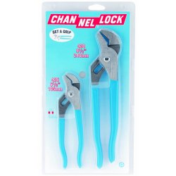 Channellock - GS-1 - Tongue and Groove Plier Set, Handle Type: Dipped, Number of Pieces: 2