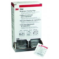 3M - 504 - 3M Respirator Clean Wipe 100EA/BX - For Respirator - Alcohol-free, Biodegradable - 100 / Box