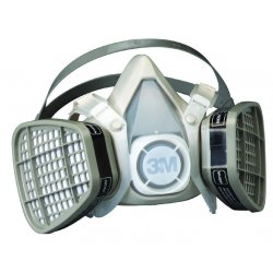 3M - 5101 - Respirator Air-purifying Respirator Half Mask Organic Vapor 3m Maintenance Free Small Niosh, Ea