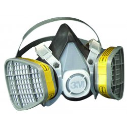 3M - 5103 - Respirator Air-purifying Respirator Half Mask Organic Vapor Acid Gas 3m Maintenance Free Small Niosh, Ea