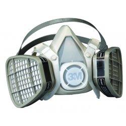 3M - 5201 - Respirator Air-purifying Respirator Half Mask Organic Vapor 3m Maintenance Free Medium Niosh, Ea