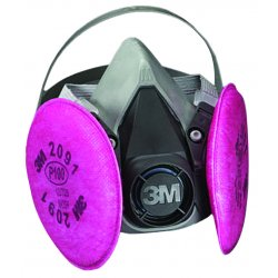 3M - 142-6291 - Half Facepiece Respirator 6000 Series, Reusable