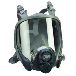 3M - 6800DIN - Threaded Connection Full Face Respirator, 4 Point Suspension, M
