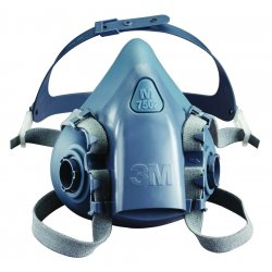 3M - 7501 - Respirator Air-purifying Respirator Half Mask 3m 7500 Small Silicone Niosh, Ea