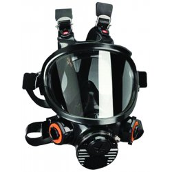 3M - 7800S-M - Bayonet Connection Full Face Respirator, 6 Point Suspension, M
