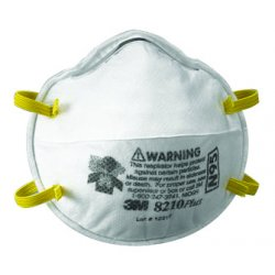 3M - 142-8210PLUS - N95 Disposable Particulate Respirator, White, Universal, 20PK