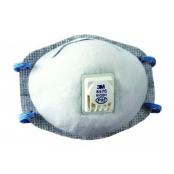 3M - 8576 - 3M 8576 Specialty Particulate Respirators, P95/Acid Gas/Valve; 10/Bx