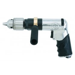 "Chicago Pneumatic - RP9789 - Standard Grip Air Drill800 Rpm 1/2"" Chuck Rever, Ea"