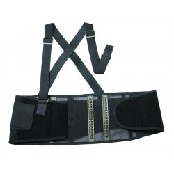 Ergodyne - 11604 - Ergodyne Large Black ProFlex 1100SF 280D Spandex Standard Lower Back Support With Two-Stage Closure, Sticky Fingers Stays And Detachable Suspenders