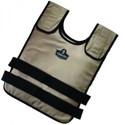 Ergodyne - 12110 - Cooling Vest, Polyester Outer, Cotton Inner, With Thermal Liner, Khaki, L/XL