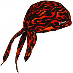 Ergodyne - 12485 - Cooling Hat, Terrycloth, Orange/Black, Universal
