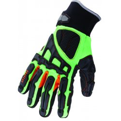 Ergodyne - 16055 - Ergodyne X-Large Green ProFlex Armortex And PVC Full Finger Anti-Vibration Gloves With Neoprene Cuff