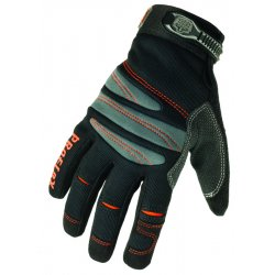 Ergodyne - 16152 - ProFlex Full-Finger Trades Gloves - 7 Size Number - Small Size - EVA Foam Palm Pad, Polyvinyl Chloride (PVC) Palm, Polyvinyl Chloride (PVC) Finger, Synthetic Leather Palm, Synthetic Leather Finger, Terrycloth Thumb, Spandex Knuckle,
