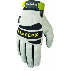 Ergodyne - 16223 - ProFlex PVC Handler Gloves - 8 Size Number - Medium Size - Polyvinyl Chloride (PVC) Palm, Polyvinyl Chloride (PVC) Fingertip, Woven Cuff, Terrycloth Thumb, Spandex Knuckle, Neoprene Knuckle, Spandex Back - Black - Textured, Pull-on Tab,