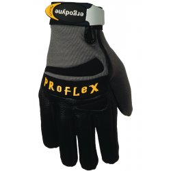 Ergodyne - 17324 - Ergodyne Large Black ProFlex Pigskin Half Finger Anti-Vibration Gloves With Elastic Cuff