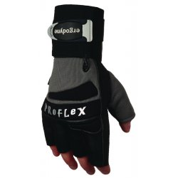 Ergodyne - 17423 - Ergodyne Medium Black ProFlex Pigskin And Spandex Half Finger Anti-Vibration Gloves With Elastic Cuff