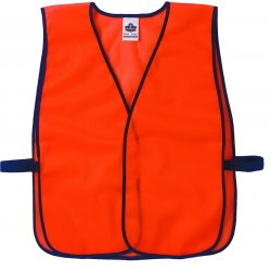 Ergodyne - 20010 - Ergodyne Hi-Viz Orange GloWear 8010HL Economy 2.6 oz Polyester Mesh Vest With Front Hook And Loop Closure
