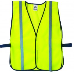 "Ergodyne - 20040 - Ergodyne Hi-Viz Lime GloWear 8020HL 2.6 oz Polyester Mesh Standard Vest With Front Hook And Loop Closure And 1"" Reflective Tape"
